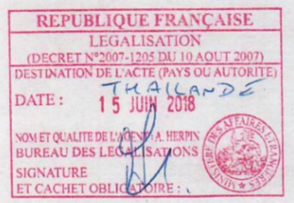 Cachet bureau des législations